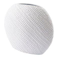Urchin Round Vase Sm White Product Image