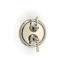 Dual Control Thermostatic With Diverter and Volume Control Valve Trim Berea Series 11 Polished Nickel