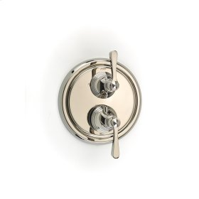 Dual Control Thermostatic with Diverter and Volume Control Valve Trim Summit (series 11) Polished Nickel