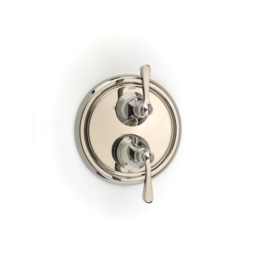 Dual Control Thermostatic with Diverter and Volume Control Valve Trim Berea (series 11) Polished Nickel