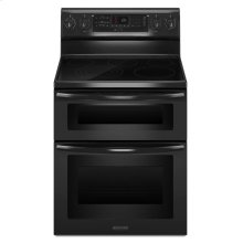 30-Inch 5-Element Electric Freestanding Double Oven Range, Architect® Series II - Black