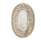 Silver Leaf Oval Mirror With Insets Product Image