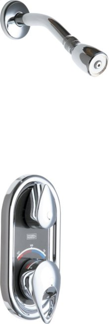 TempShield Thermostatic Pressure Balancing Shower Valve with Shower Head