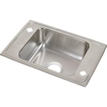 "Elkay Lustertone Classic Stainless Steel 31"" x 19-1/2"" x 7-5/8"", Single Bowl Drop-in Classroom Sink"