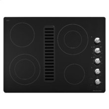 "KitchenAid® 30"" Downdraft Electric Cooktop with 4 Elements - Black"