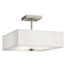 "Shailene Collection Shailene 14"" 3 Light Semi Flush NI"