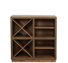 Falls Creek Open Storage Unit Chestnut finish