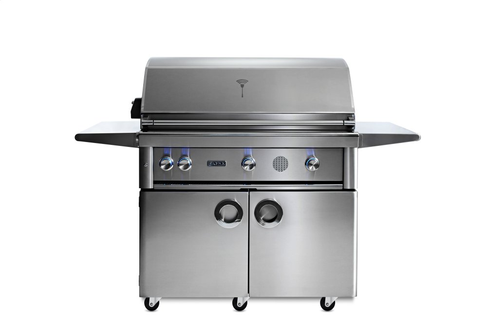 """42"""" Lynx Professional Freestanding Smart Grill with Rotisserie, NG  STAINLESS STEEL"""