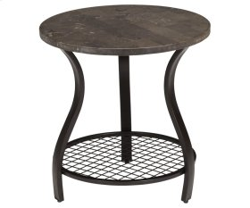 Bluestone Round Lamp Table