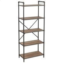 Bronx 5 Tier etagère in Antique Black