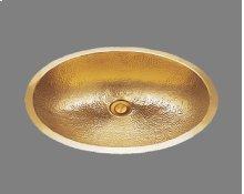 B1519 - Lavatory - Hammertone Pattern - Antique Brass