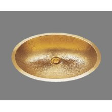 B1519 - Lavatory - Hammertone Pattern - Antique Brass