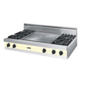 """Lemonade 48"""" Open Burner Rangetop - VGRT (48"""" wide, four burners 24"""" wide griddle/simmer plate)"""