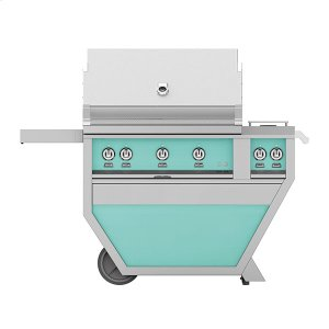 "Hestan36"" Hestan Outdoor Deluxe Grill with Double Side Burner - G_BR__CX_ Series - Bora-bora"