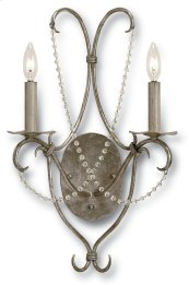 Crystal Lights Silver Wall Sconce