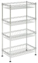 Gaston 4 Tier Chrome Wire Mini Rack - Chrome Product Image
