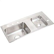 "Elkay Lustertone Classic Stainless Steel 37-1/4"" x 17"" x 4"", Double Bowl Drop-in Classroom ADA Sink"
