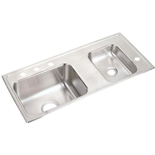 "Elkay Lustertone Classic Stainless Steel 37-1/4"" x 17"" x 6"", Double Bowl Drop-in Classroom ADA Sink"