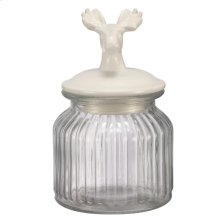 Amici Jar W/Deer Finial Lid
