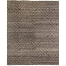 8'x10' Size Natural Diamond Patterned Wool Rug