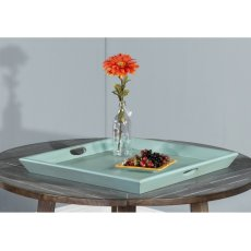 Robin's Egg Blue Ottoman Tray Product Image