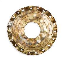 Lucille Burnished Brass Mirror