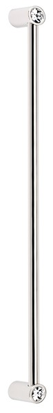 Contemporary Crystal Appliance Pull CD715-12 - Polished Nickel