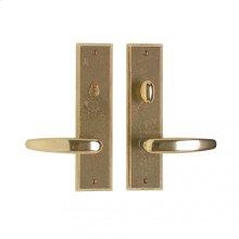"Rectangular Privacy Set - 2 1/2"" x 10"" White Bronze Brushed"