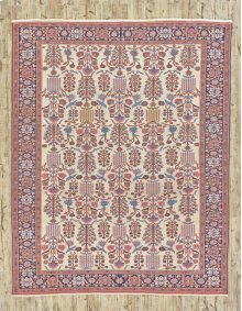 "PERSIAN 000046338 IN IVORY NAVY 8'-6"" x 10'-1"""