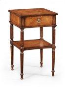 Regency Style Walnut Bedside Table Product Image