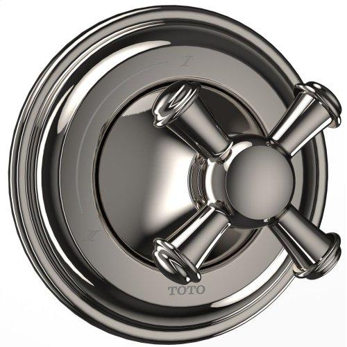 Vivian Two-Way Diverter Trim - Cross Handle - Polished Nickel