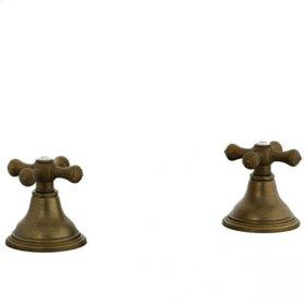 Asbury - Deck Valve Kit Trim - Aged Brass