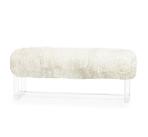 Avalon Bench - Ivory Sheepskin