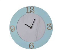 Light Blue Wood Wall Clock, Wb