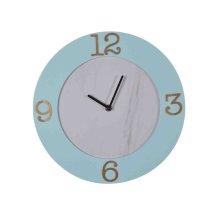 Wood Wall Clock, Aqua Wb
