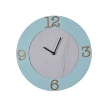 Wood Wall Clock, Aqua Wb