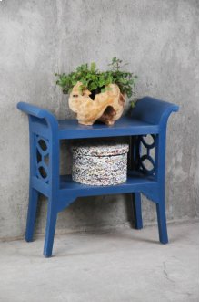CC-TAB1033LD-SD  Cottage Blue Accent Table and Console  Blue