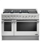 "48"" Professional, 6 Burner Gas Range W/grill Product Image"