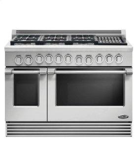 "48"" Professional, 6 Burner Gas Range W/grill"