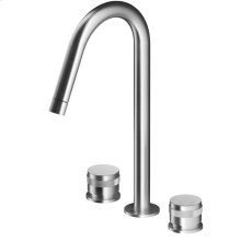 Three Hole Widespread Faucet With High Rotating Spout R70