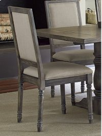 Uph Back Chair (2 per carton) - Weathered Pepper Finish Product Image