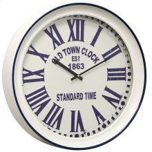 Metal & Glass Wall Clock  17in X 17in X 3in