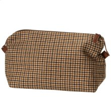 Brown Houndstooth Large Zip Carryall.