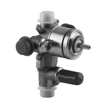 "In-wall pressure balance rough valve with 2-way diverter 1/2"" connections Max flow rate 4"