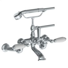 Wall Mounted Exposed Bath Set With Hand Shower (available With Ferrara White or Cordoba Black Marble)