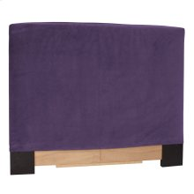 Twin Slipcovered Headboard Bella Eggplant