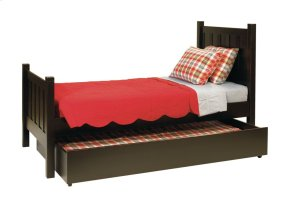 Yukon Bed, Two Positions Wood Rail & Wooden Slats