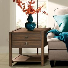 Perspectives - Side Table - Brushed Acacia Finish