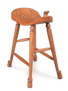 "Western Saddle Stationary Barstool, Western Saddle Stationary Barstool, 24""h"