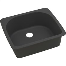 "Elkay Quartz Classic 25"" x 22"" x 8-1/2"", Single Bowl Drop-in Sink, Black"